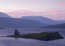 Pre-Dawn Light on Loch Assynt and Ardvreck Castle
